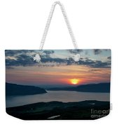 Sunsetting Over Portree, Isle Of Skye, Scotland. Weekender Tote Bag