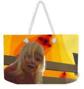 Sunshine Makes Me Happy Weekender Tote Bag