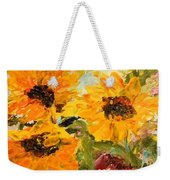 Sunshine On A Cloudy Day Weekender Tote Bag by Barbara Pirkle