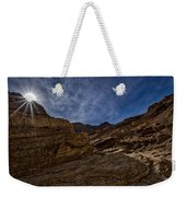 Sunstar Over Mosaic Canyon - Death Valley Weekender Tote Bag