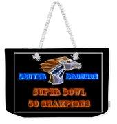 Super Bowl 50 Champions Weekender Tote Bag by Shane Bechler