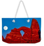 Super Moon Over Arches National Park Weekender Tote Bag