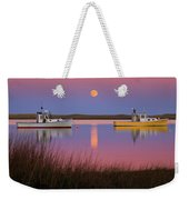 Super Moon Over Nauset Beach Cape Cod National Seashore Weekender Tote Bag