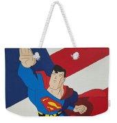 Superman And The Flag Weekender Tote Bag