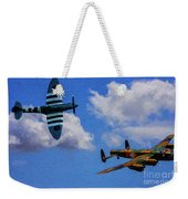 Supermarine Spitfire Mk1 And Avro Lancaster - Oil Weekender Tote Bag