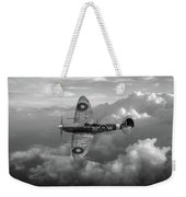 Supermarine Spitfire Vb Black And White Version Weekender Tote Bag