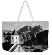 Superstition Mountain And Elvis Church Weekender Tote Bag