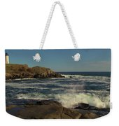 Surf At Nubble Light Weekender Tote Bag