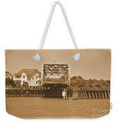 Surf City Vintage Swing Bridge In Sepia 1 Weekender Tote Bag