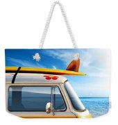 Surf Van Weekender Tote Bag by Carlos Caetano