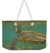 Surfacing Seaturtle Weekender Tote Bag