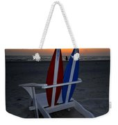 Surfboard Chair Sunset Weekender Tote Bag