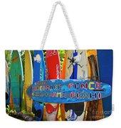 Surfboard Fence-the Amazing Race  Weekender Tote Bag