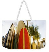 Surfboards At Waikiki Weekender Tote Bag