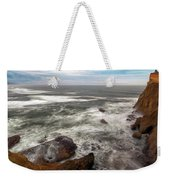 Surfer At Cape Kiwanda In Pacific City Weekender Tote Bag