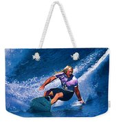Surfer Dude Catching A Wave Weekender Tote Bag