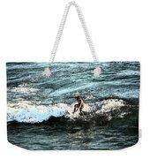 Surfer On Wave Weekender Tote Bag