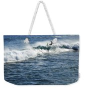 Surfer Riding A Wave Weekender Tote Bag