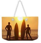Surfer Silhouettes Weekender Tote Bag