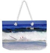 Surfers At Asilomar State Beach Three Oopsy Daisy Weekender Tote Bag