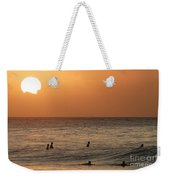 Surfers At Sunset Weekender Tote Bag