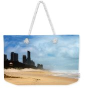 Surfers Paradise On A Stormy Day Weekender Tote Bag