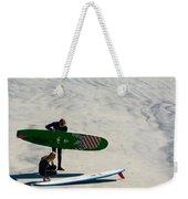 Surfing Couple Weekender Tote Bag