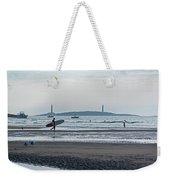 Surfing On Good Harbor Beach Gloucester Ma Weekender Tote Bag