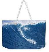 Surfing The Infamous Jaws Weekender Tote Bag