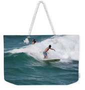 Surfing The White Wave At Huntington Beach Weekender Tote Bag