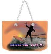 Surfing U.s.a. Weekender Tote Bag
