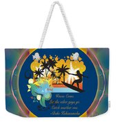 Surfing Waves Of Abstract Art By Omashte Weekender Tote Bag