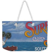 Surfside Beach Sign Weekender Tote Bag