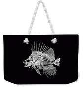 Surgeonfish Skeleton In Silver On Black  Weekender Tote Bag