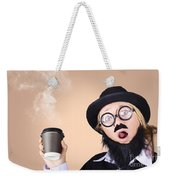 Surprised Business Person High On Coffee Weekender Tote Bag