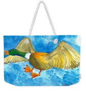 Surprised Flying Duck Detail Of Duck Meets Fairy Ballet Class Weekender Tote Bag
