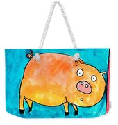 Surprised Pig Weekender Tote Bag
