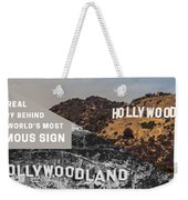 Surprising Facts Of Hollywood Sign Weekender Tote Bag