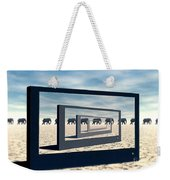 Surreal Elephant Desert Scene Weekender Tote Bag