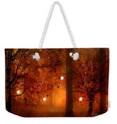 Surreal Fantasy Autumn Woodlands Starry Night Weekender Tote Bag