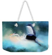 Surreal Stork In A Storm Weekender Tote Bag