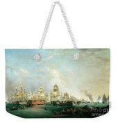 Surrender Of The Santissima Trinidad To Neptune The Battle Of Trafalgar Weekender Tote Bag