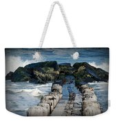 Surrounded By The Ocean - Jersey Shore Weekender Tote Bag