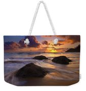 Surrounded By The Sea Weekender Tote Bag