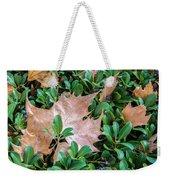 Surrounded Leaf Weekender Tote Bag