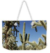 Surrounded Saguaro Cactus Wren Weekender Tote Bag