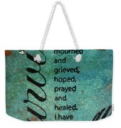 Survivor Weekender Tote Bag