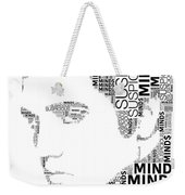 Suspicious Minds Elvis Wordart Weekender Tote Bag