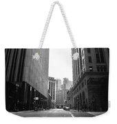 Sutter Street - San Francisco Street View Black And White  Weekender Tote Bag