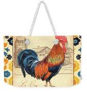Suzani Rooster 2 Weekender Tote Bag